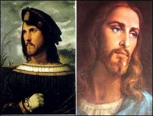 Образ иисуса христа срисован