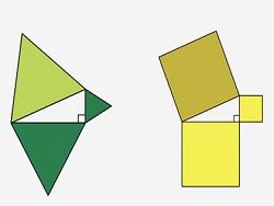 Получено новое наглядное доказательство теоремы Пифагора